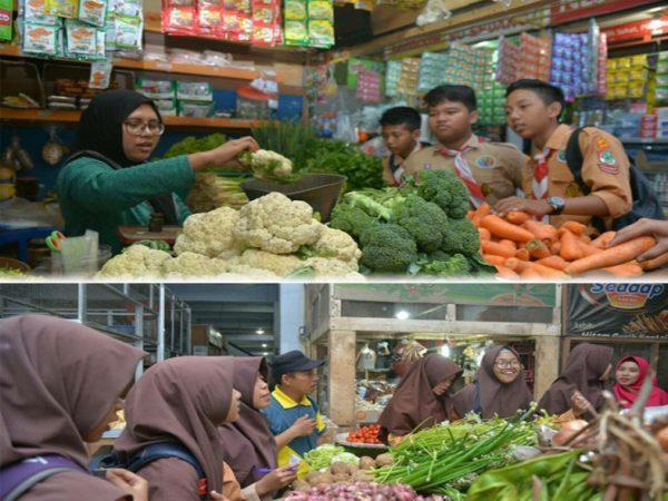 Belajar berbelanja dan bertransaksi santun di Pasar Tradisional